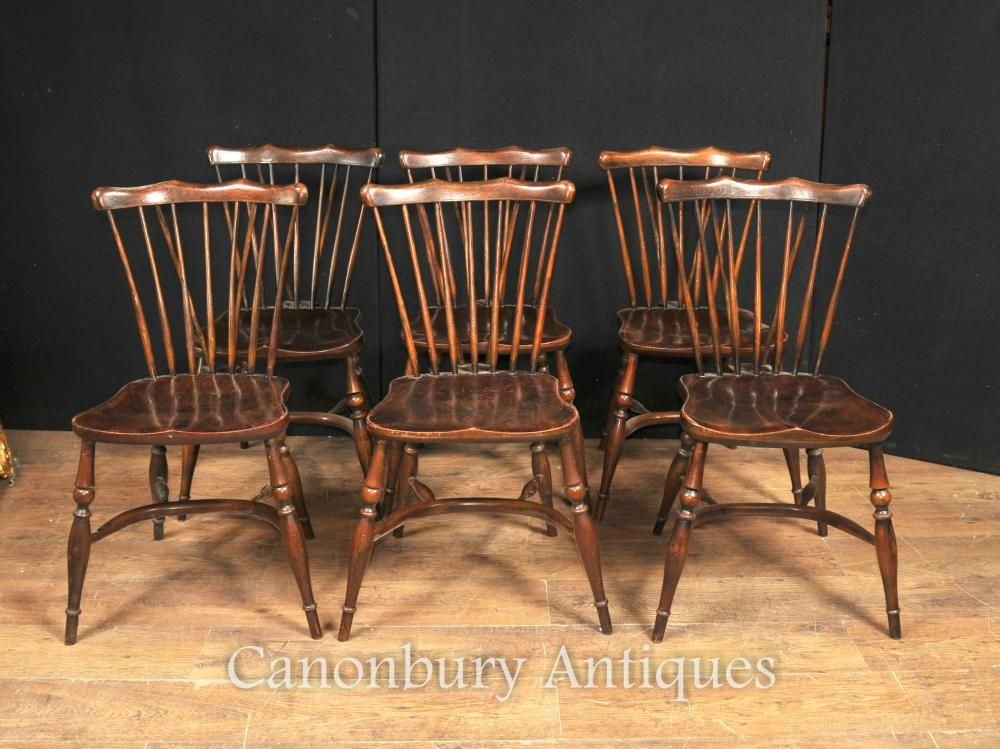 antique oak dining chairs 6 foot bean bag chair set 8 windsor 1920 kitchen table
