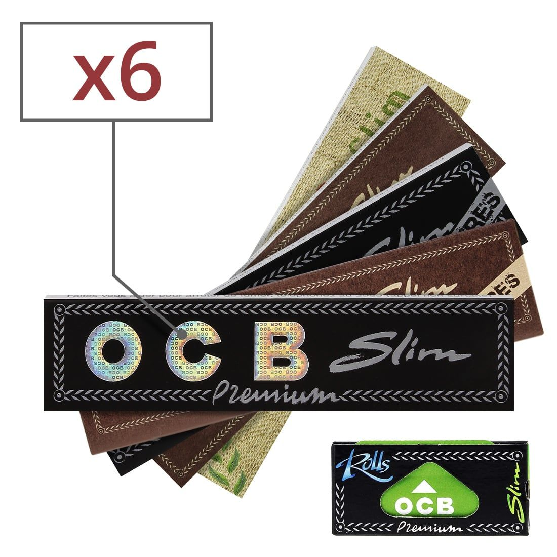 OCB Slim Non Blanchie lot de 10 carnets de feuilles