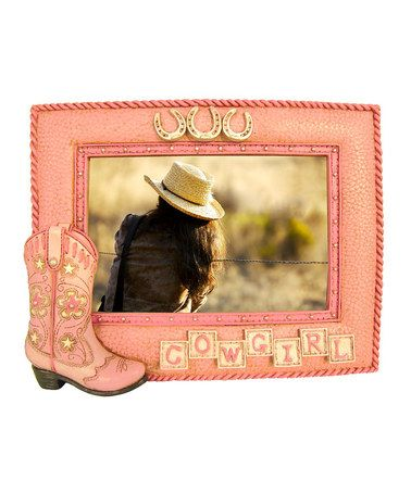 Pink Boot Cowgirl Photo Frame