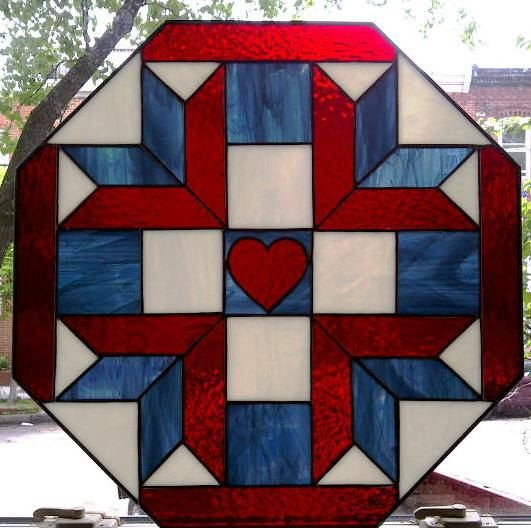 Stained Glass Quilt Design (W-9). $235.00, via Etsy.