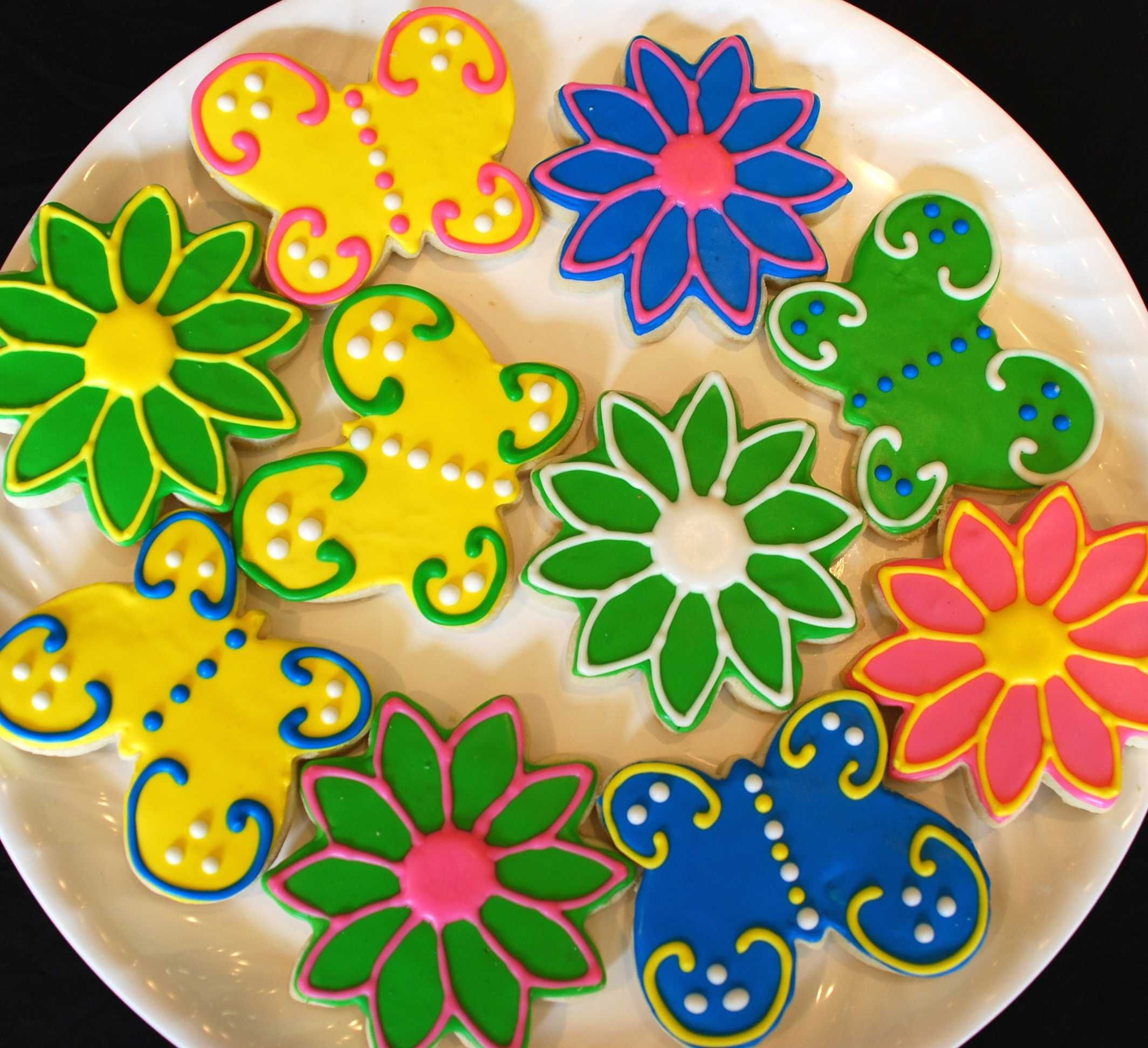 Summer cookie platter