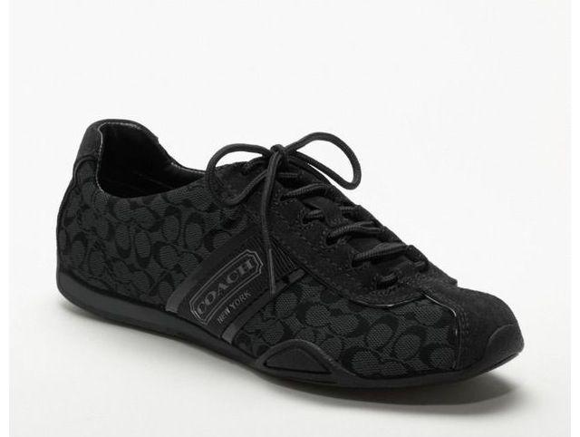 Coach tennis shoes, Black coach shoes