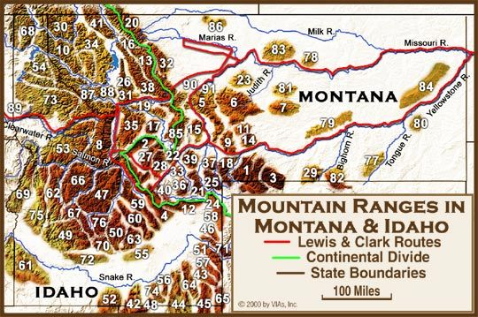 Mountain Ranges: ID & MT | Historical American West ...