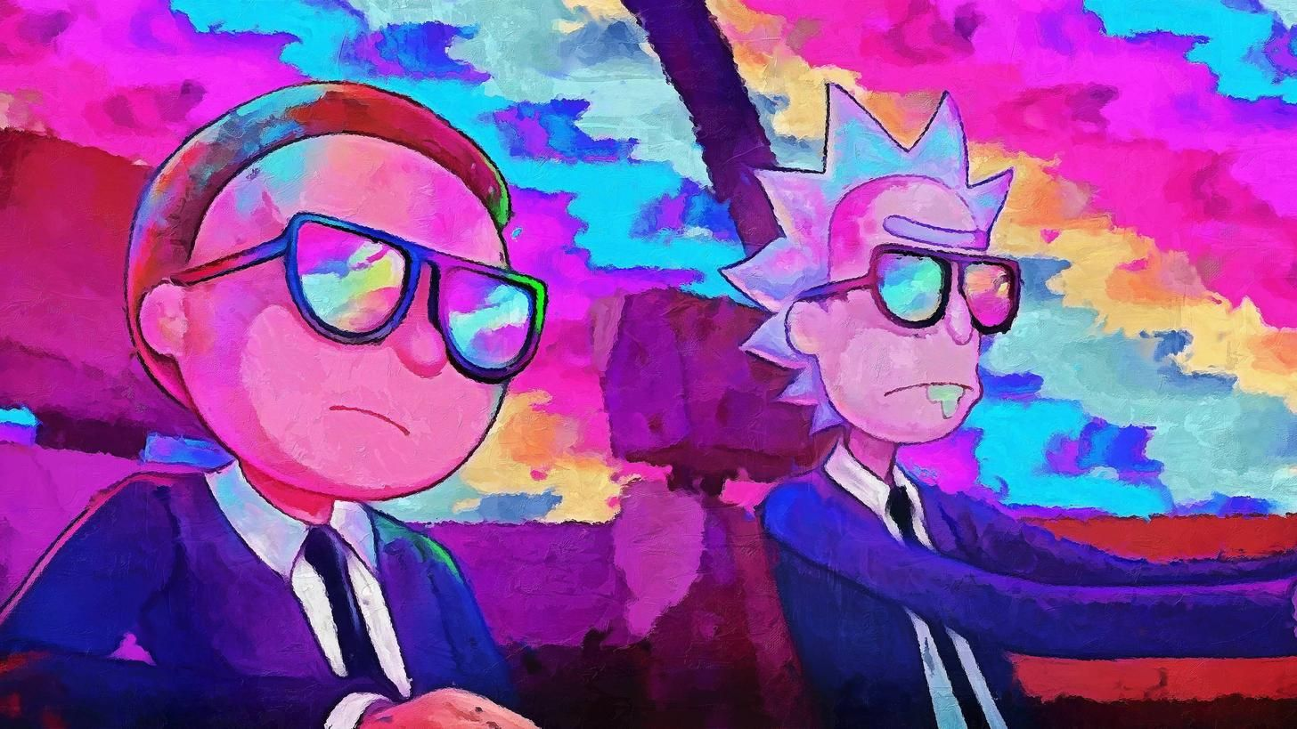 """4k Rick and Morty Wallpaper I created from """"Run The Jewels"""