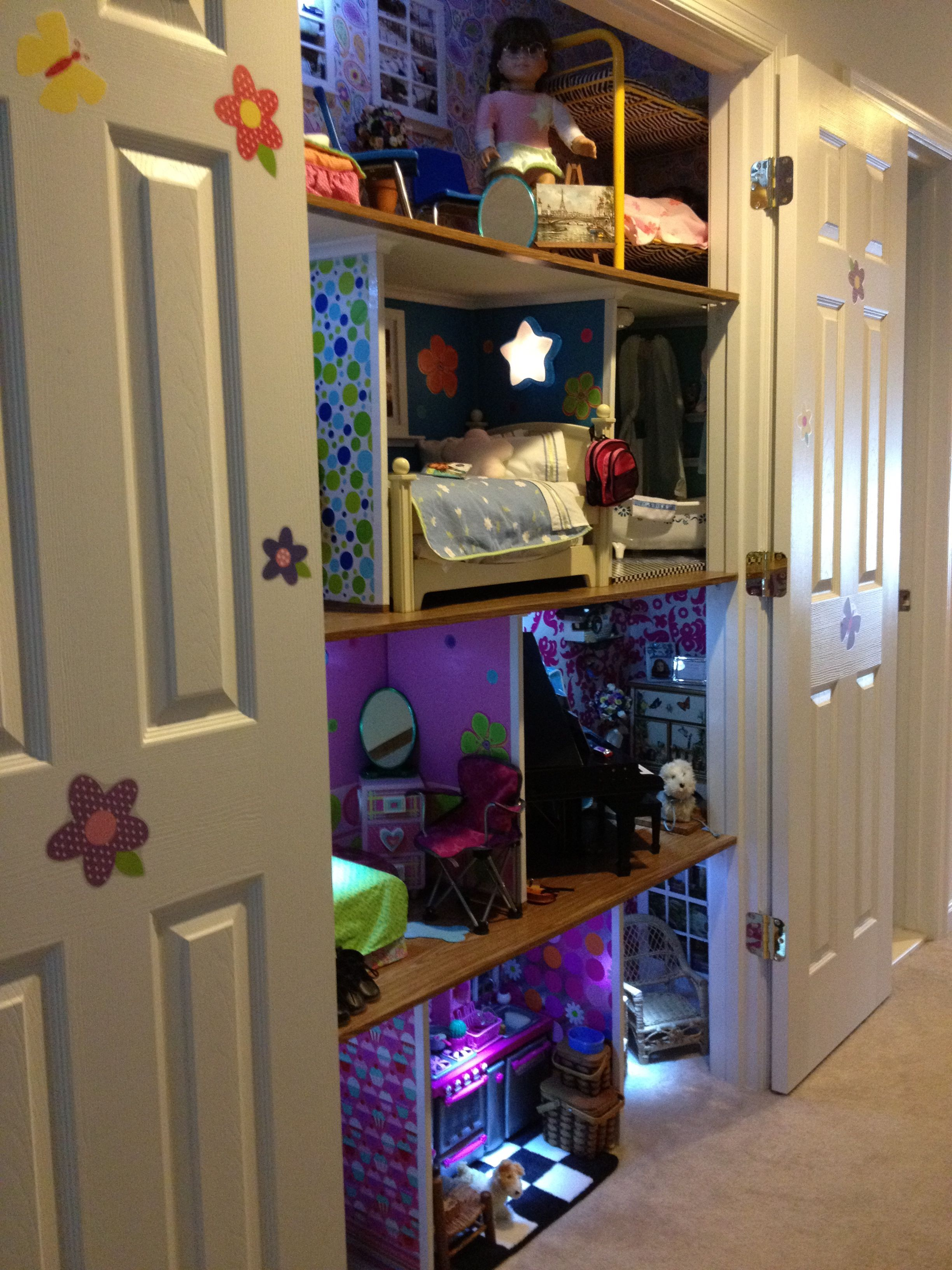 American Doll House Built In My Linen Closet
