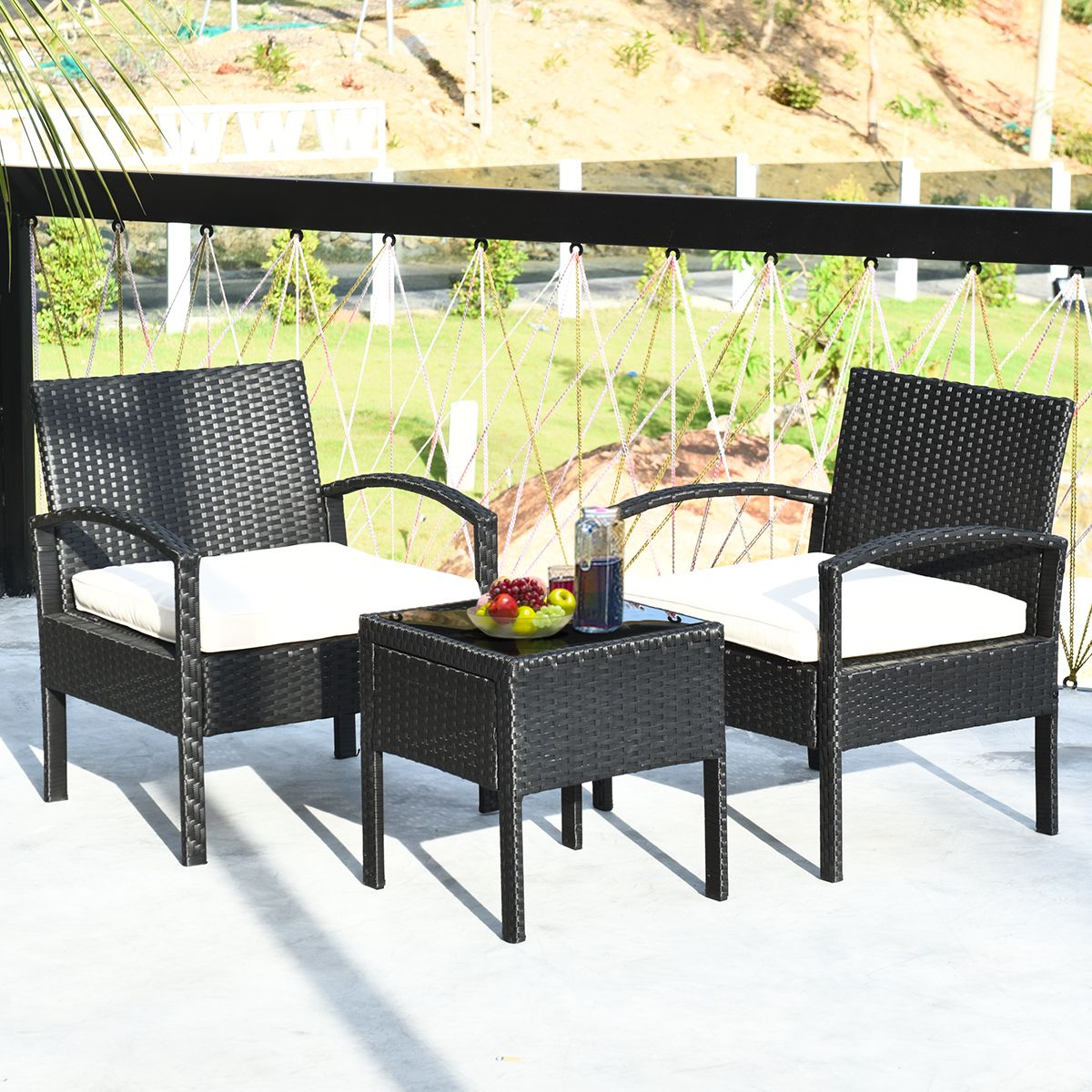 rattan wicker furniture set seat