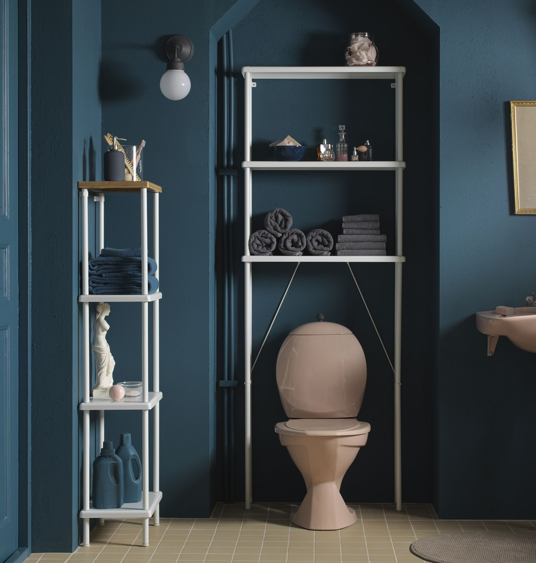 even the smallest bathrooms can be an organised calm with dynan storage unit perfectly wall