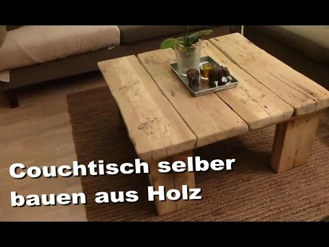 couchtisch selber machen aus holz sofatisch beistelltisch wohnzimmertisch selbst basteln. Black Bedroom Furniture Sets. Home Design Ideas