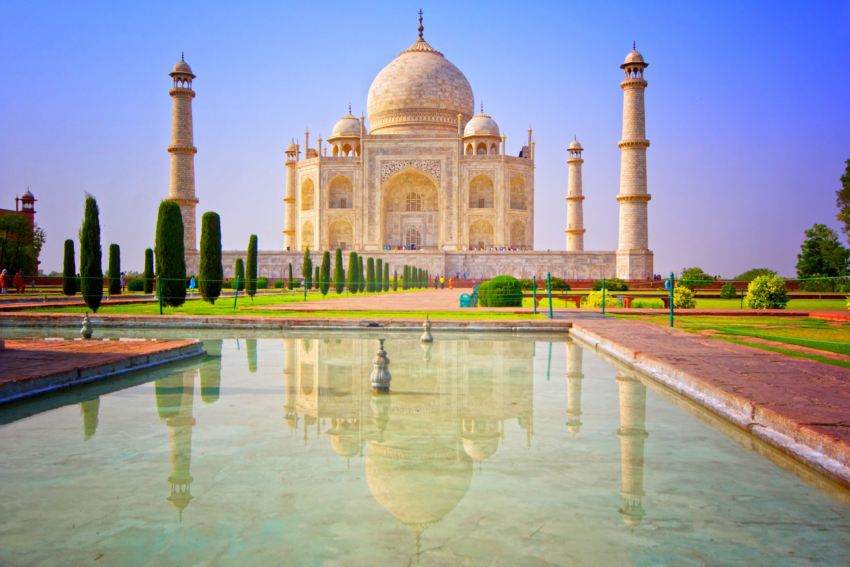 Weltwunder-Trip: Eines der neuen 7 Weltwunder - den Tau Mahal - bei einer Reise durch Indien besuchen