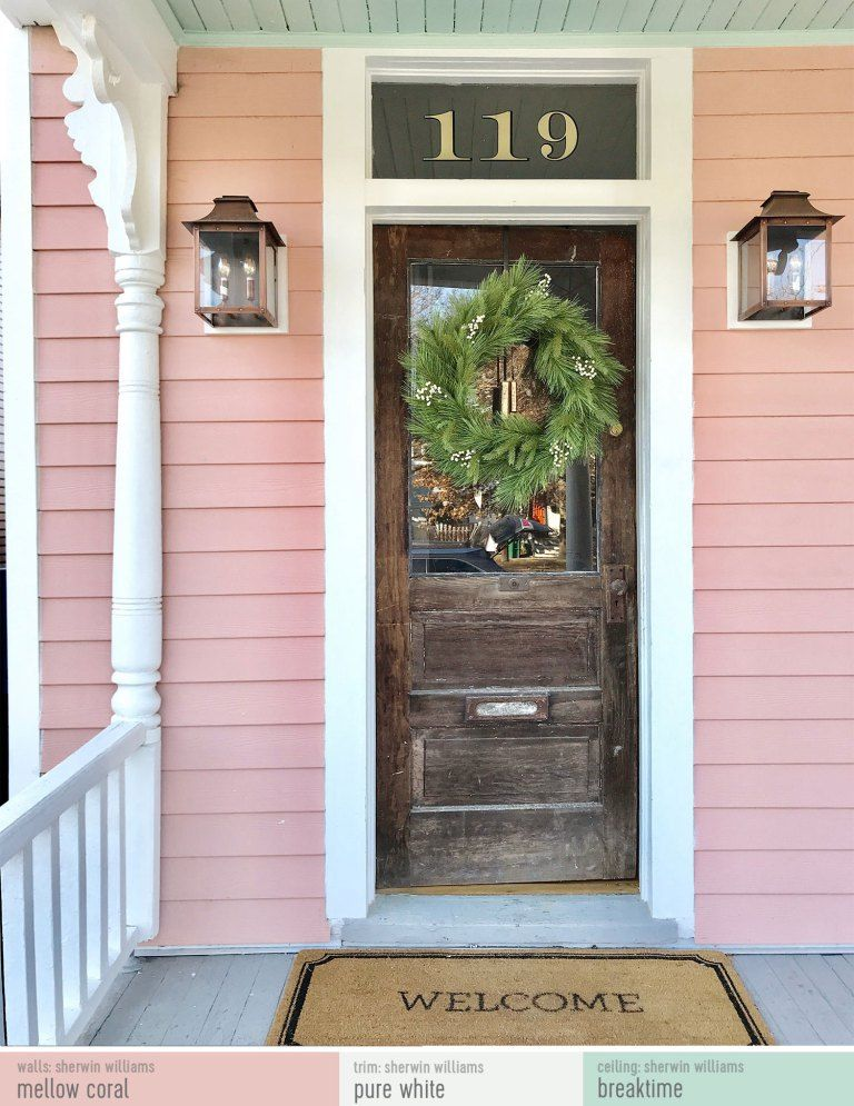 Pink Porch With Paint Colors And Sources The Perfect Pink