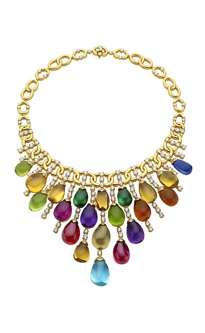 9dcea901aa3 Stunning jewelled Bvlgari necklace. I love Bvlgari colour use ...