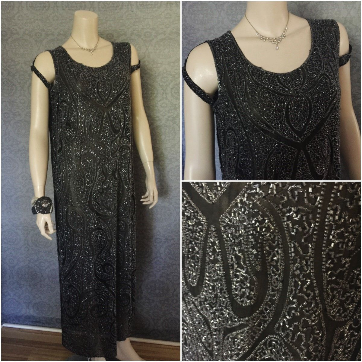S gatsby boardwalk empire stunning beaded evening dress