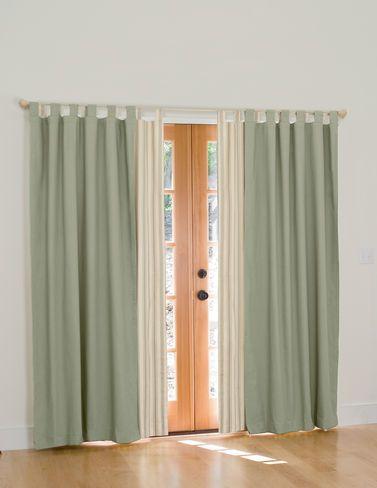 curtain over door