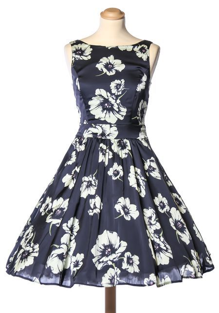 Misty Blue Blossom, tea dress by Lady Vintage. Exclusively for Miss Windy Shop!   http://www.misswindyshop.com