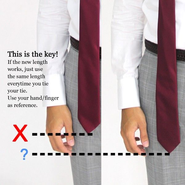Fashion advice du jour how to tie a tie get the right length fashion advice du jour how to tie a tie get the right length everytime style fashion maxmayo malaysia menswear fashion blogger b ccuart Images