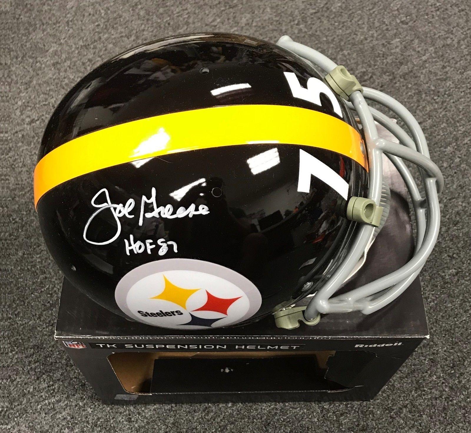 4e03133373b Joe Greene HOF 1987 Signed Steelers Full Size TK Suspension Helmet JSA  WITNESSED #Football