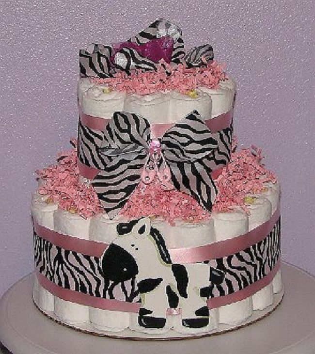 Zebra Diaper Cake New Cake Ideas Zebra Diaper Cakes Baby Girl