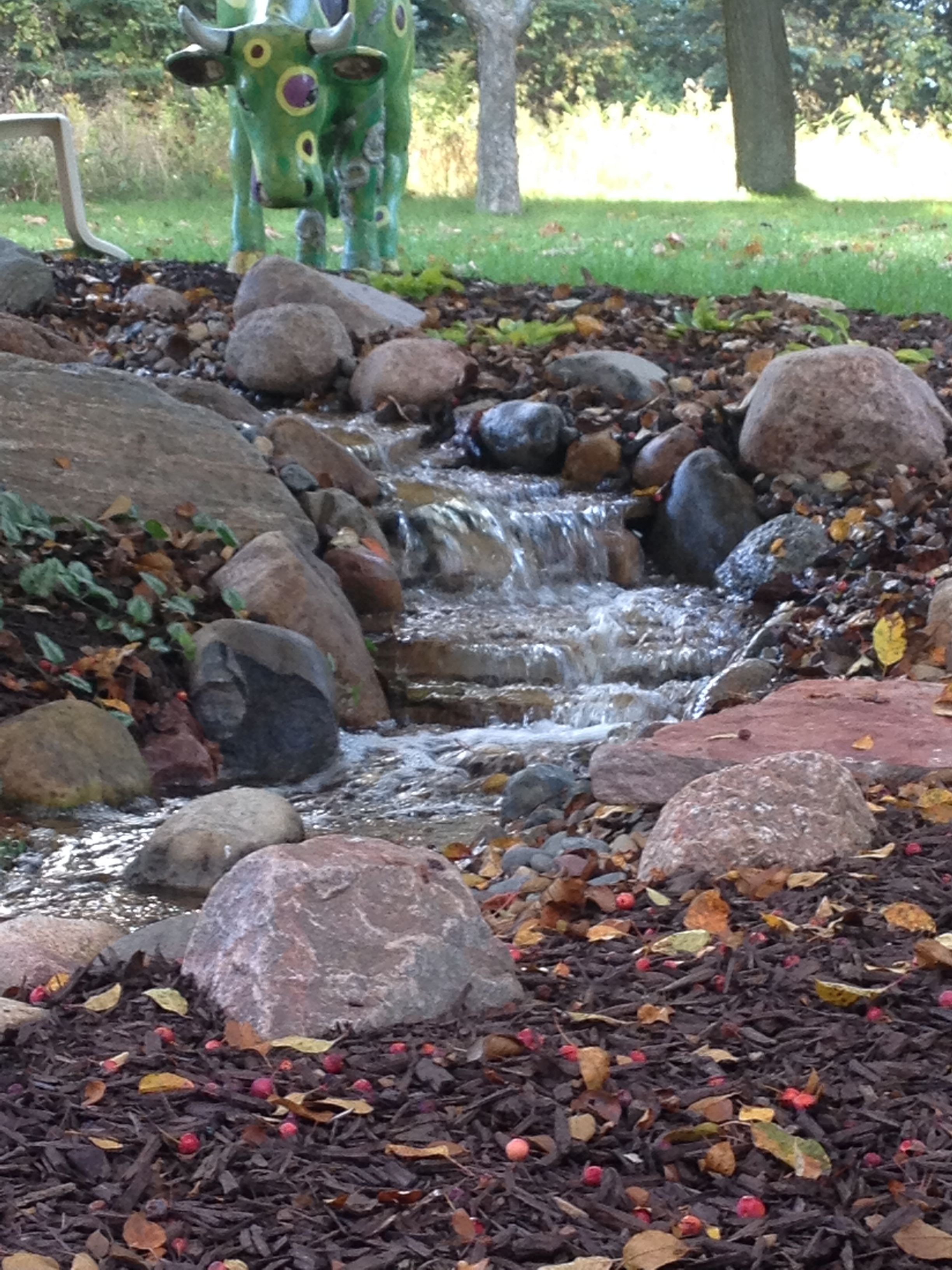 $8,000 $10,000 Greenscapes: Medium Aquascape Pondless Waterfall In  Wisconsin Cobblestone.
