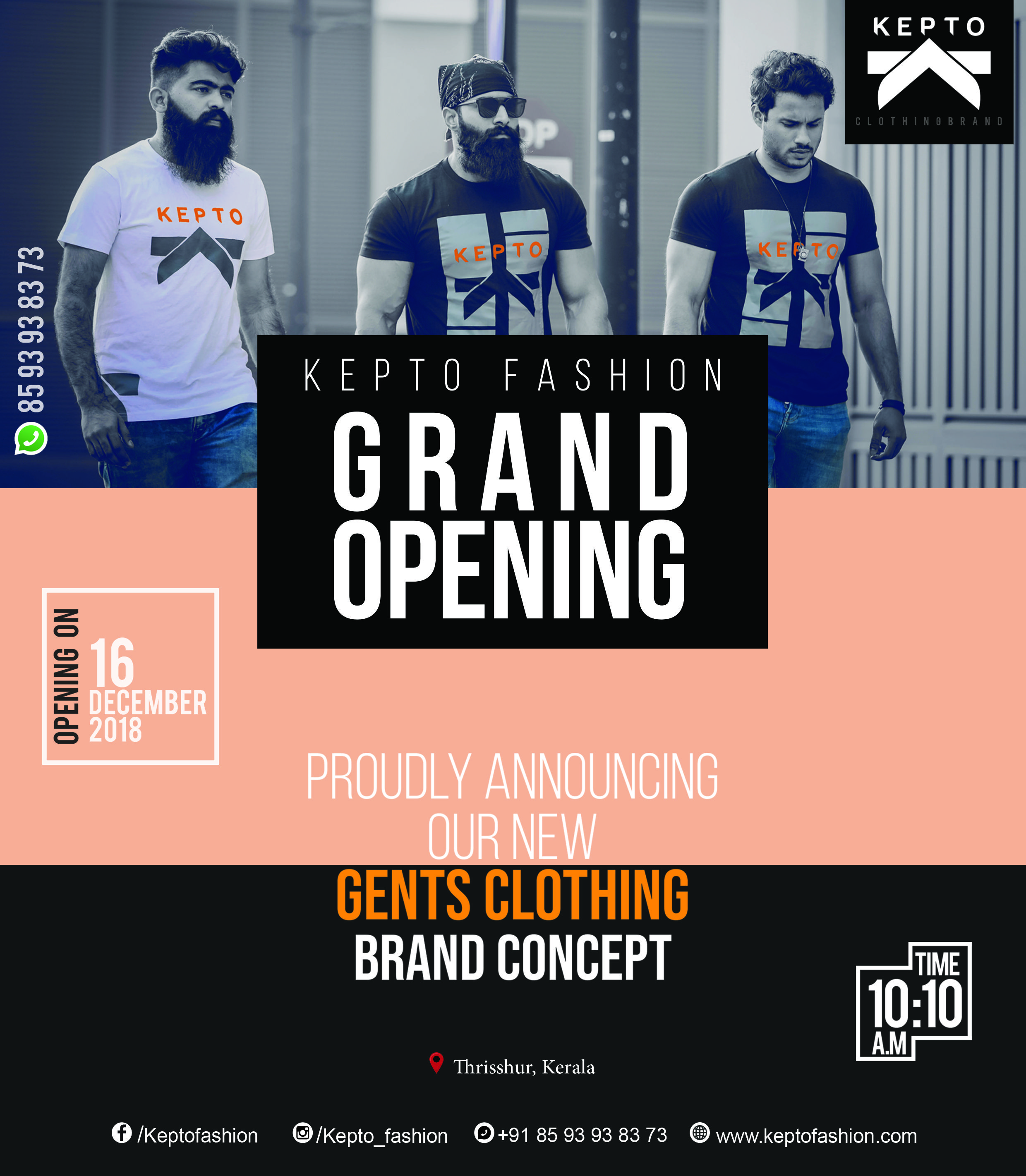 KEPTO CLOTHING BRAND GRAND OPENING POSTER SOXIAL MEDIA ...
