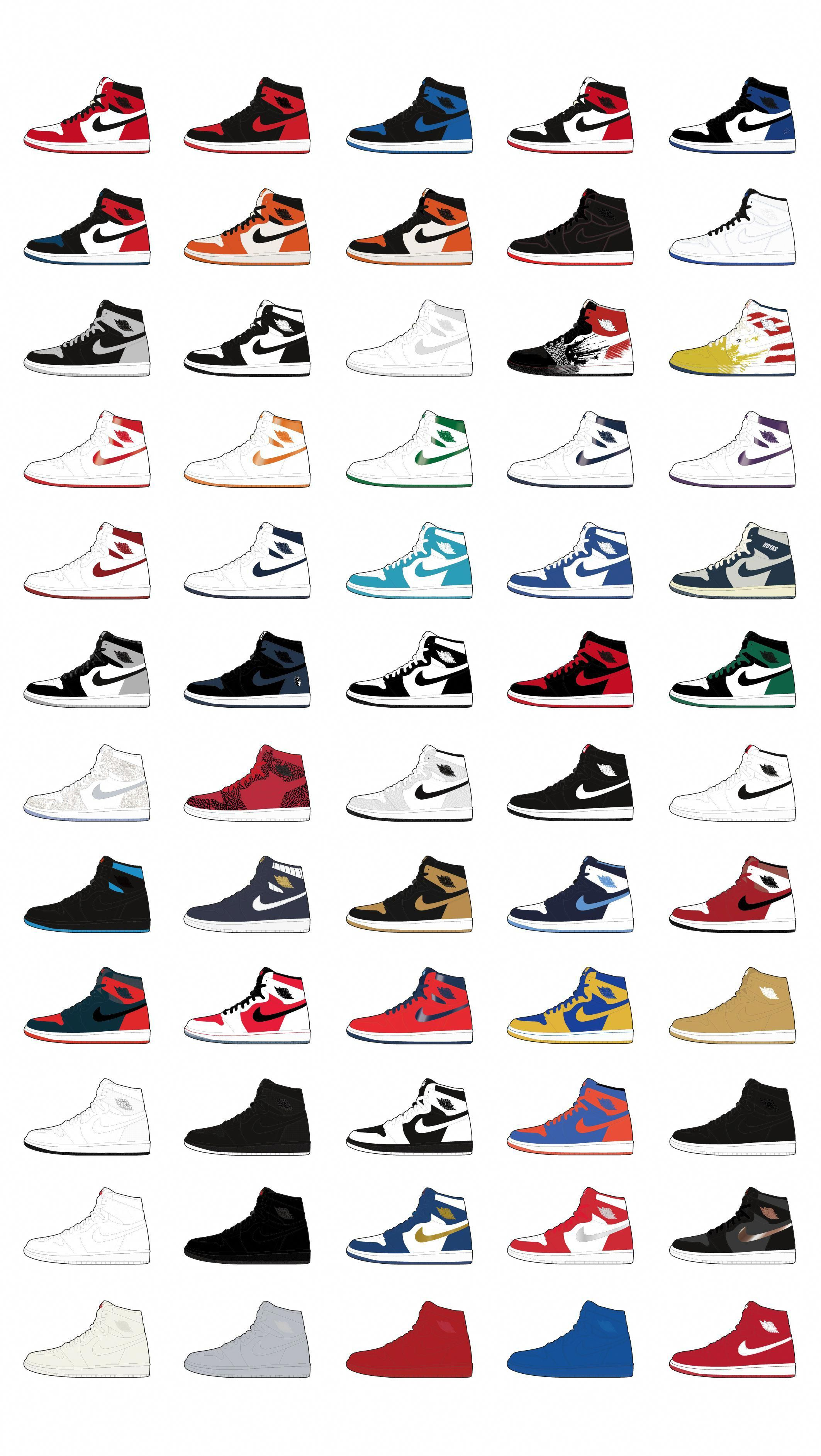 every type of jordan shoe