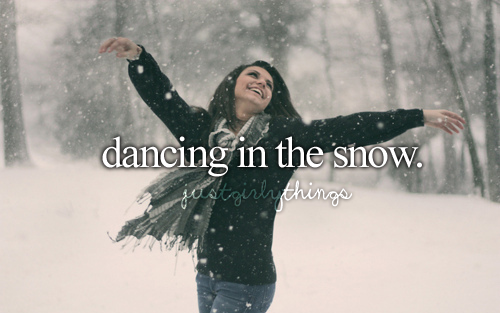 Dancing in the snow • Happy Things
