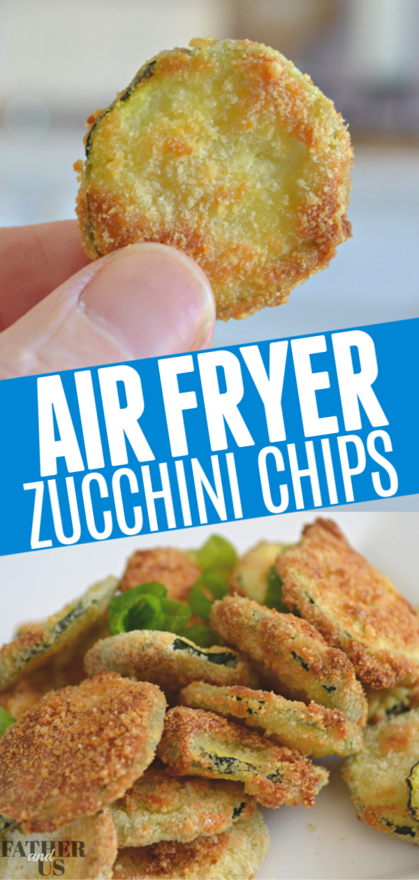 Easy Air Fryer Zucchini Chips Father and Us in 2020