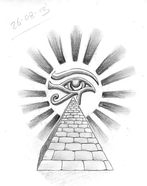 eye of horus and pyramid tattoo design cultural tattoo