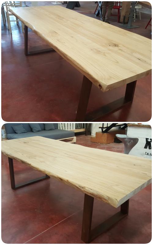 Tavolo da pranzo in vero legno massello modello Cortina, un
