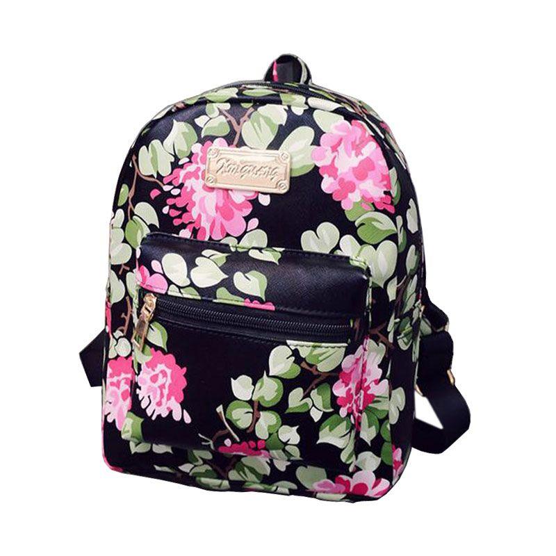 d43731e81 2016 Nova Impressão Backpack School Bolsas Para Adolescentes Mulheres  Mochilas de Couro PU Meninas Bolsa de