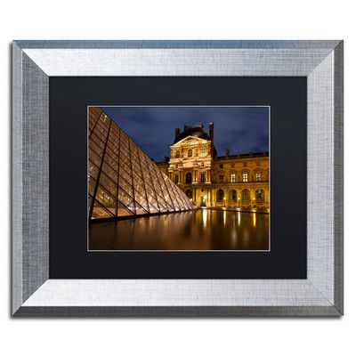 """Trademark Art 'Ornate Glass' by Michael Blanchette Framed Photographic Print Size: 11"""" H x 14"""" W x 0.5"""" D, Matte Color: Black"""