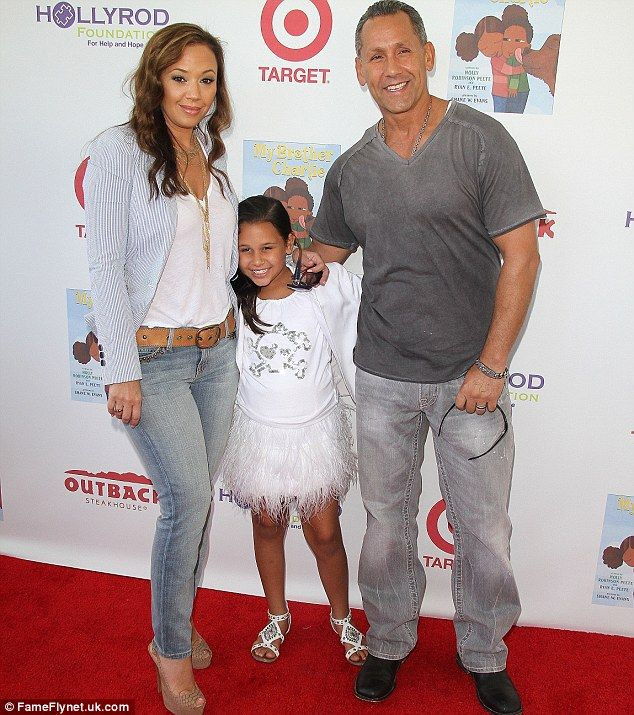 Leah Remini and her spouse, Angelo Pagan and their daughter, Sofia Bella Pagan, Source: Pinterest