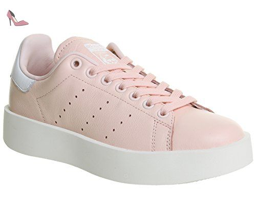 adidas Stan Smith Bold, Baskets Femme, Rose (Iced Pink/Iced Pink/Footwear White), 39 1/3 EU