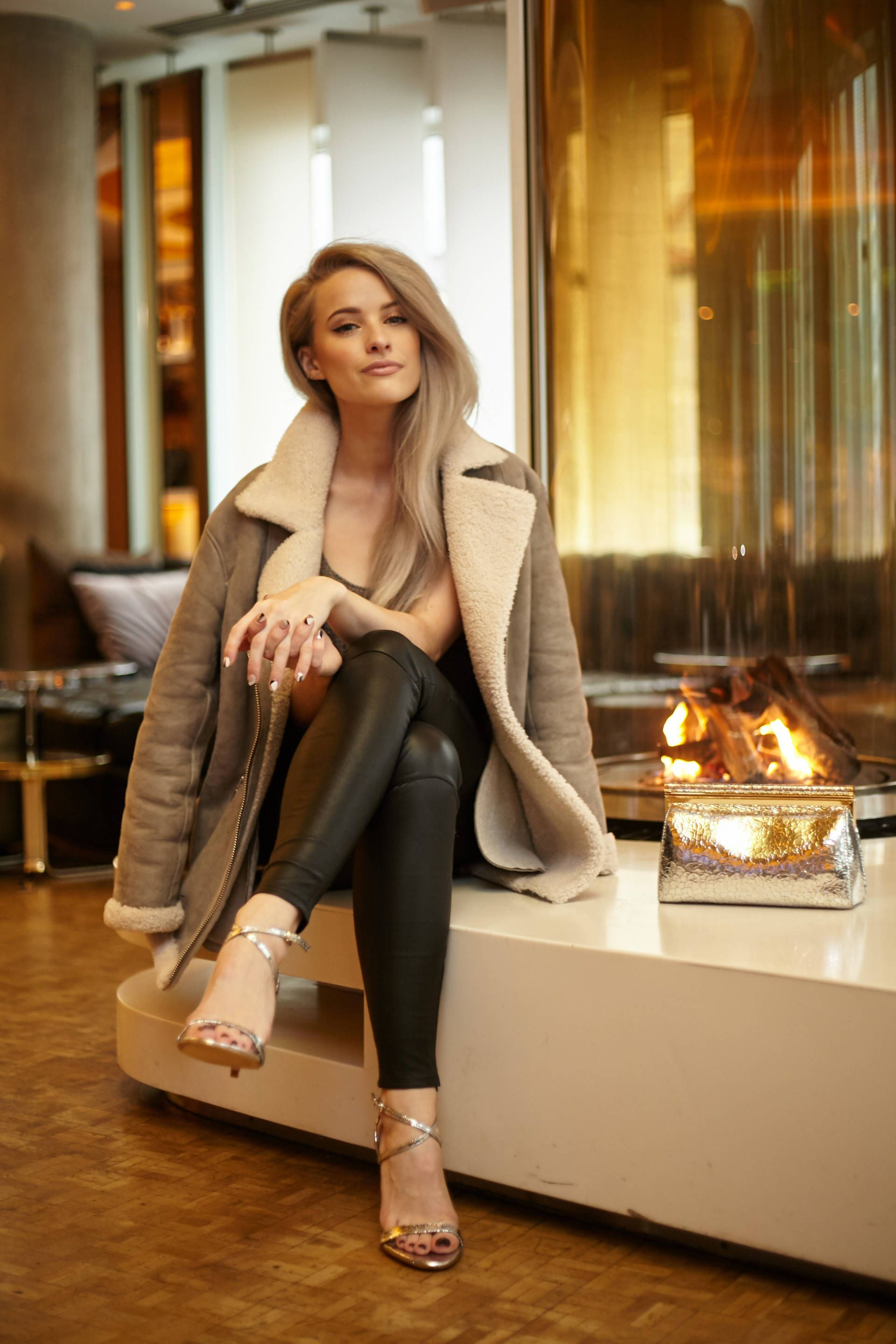 75934699bd Four Christmas party outfit ideas over on www.inthefrow.com including this  luxurious sheepskin aviator from Reiss!