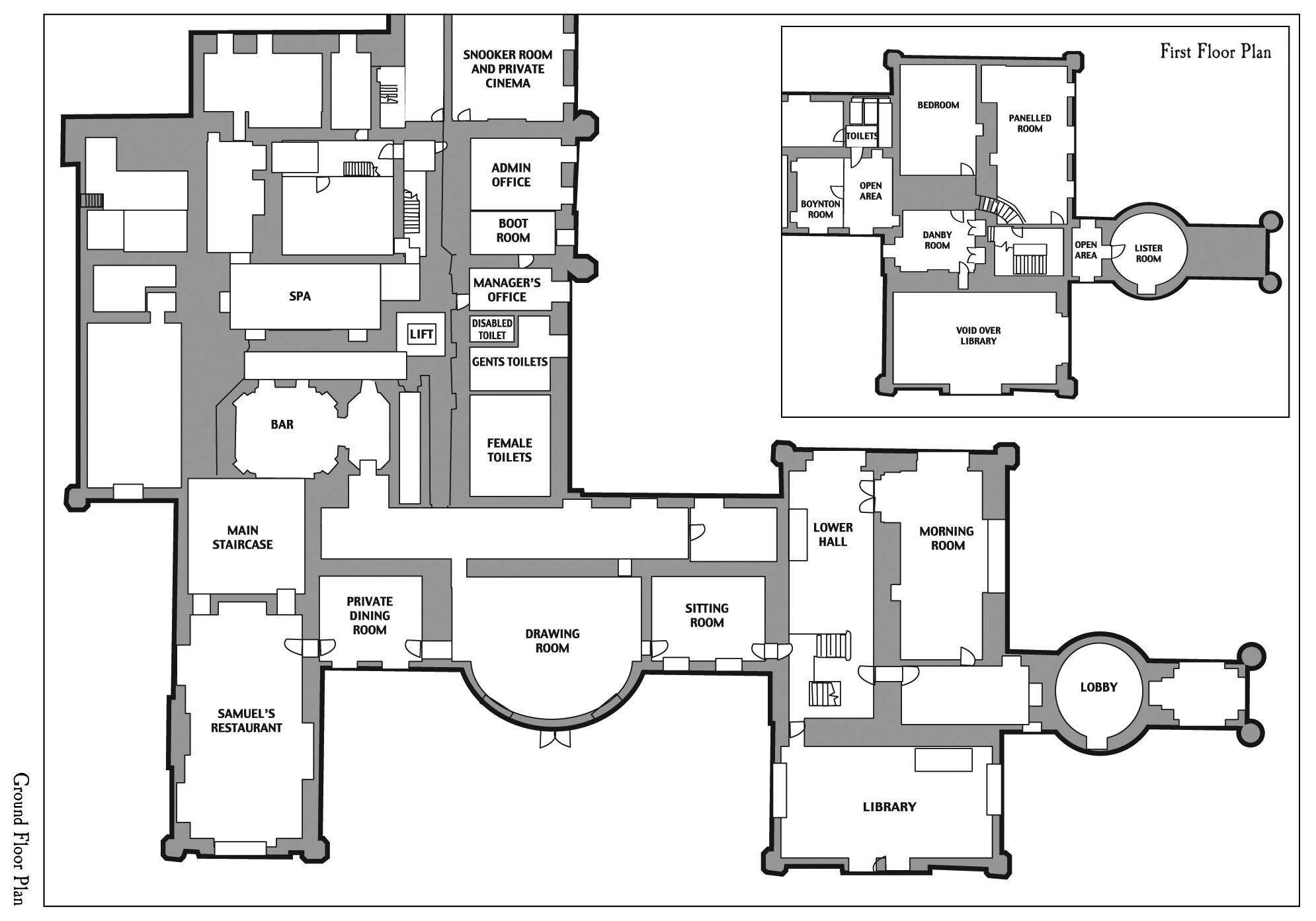 Ground Floor Plan - Click above for full size image. (opens in new window)