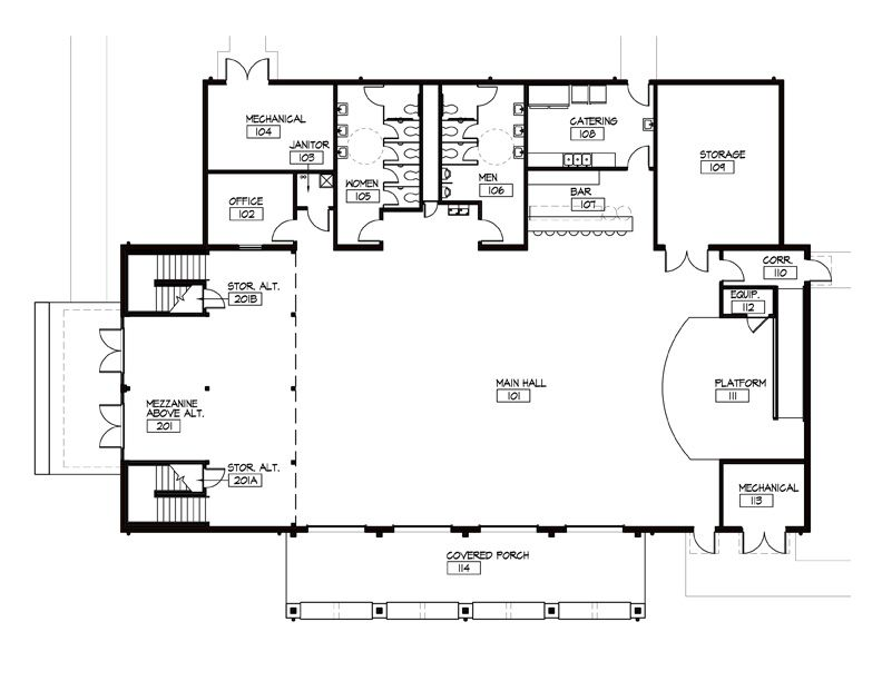 Event barn floor plans the barn pugh auditorium shorty 39 s for Barn floor plan