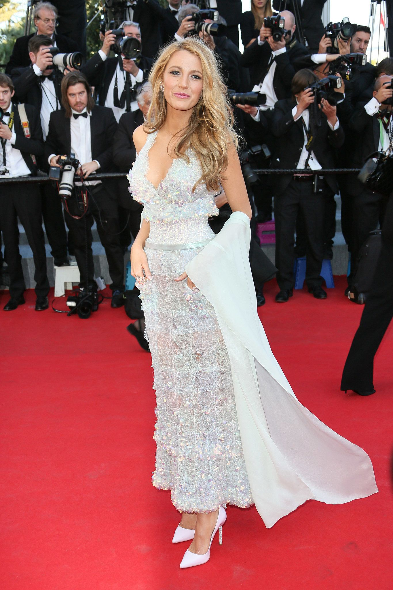 Blake Lively in Chanel Couture at Cannes.