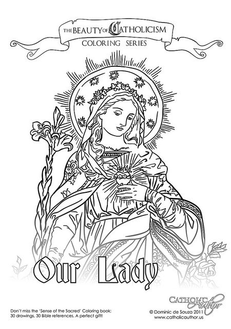 Our Lady Of The Sacred Heart Coloring Books Coloring Pages