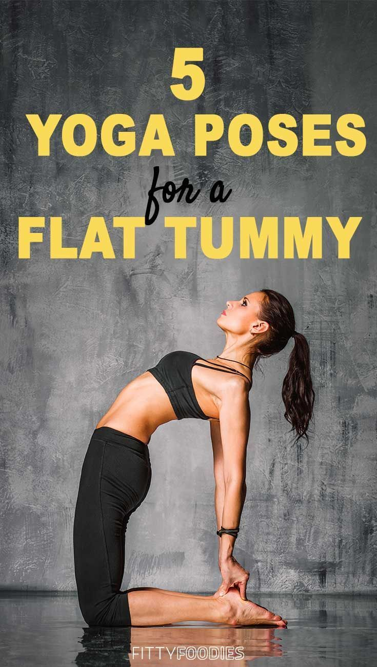 Here are the exact yoga poses that will help you get flat abs at home! #fitness5