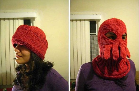 Zoidberg Knit Hat. Oh man I laughed so hard