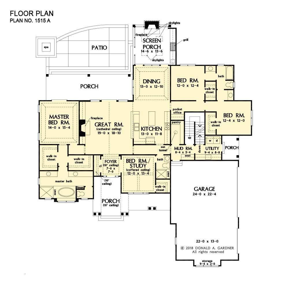 Modern Farmhouse | Ranch Home Plans | Don Gardner in 2020 ...
