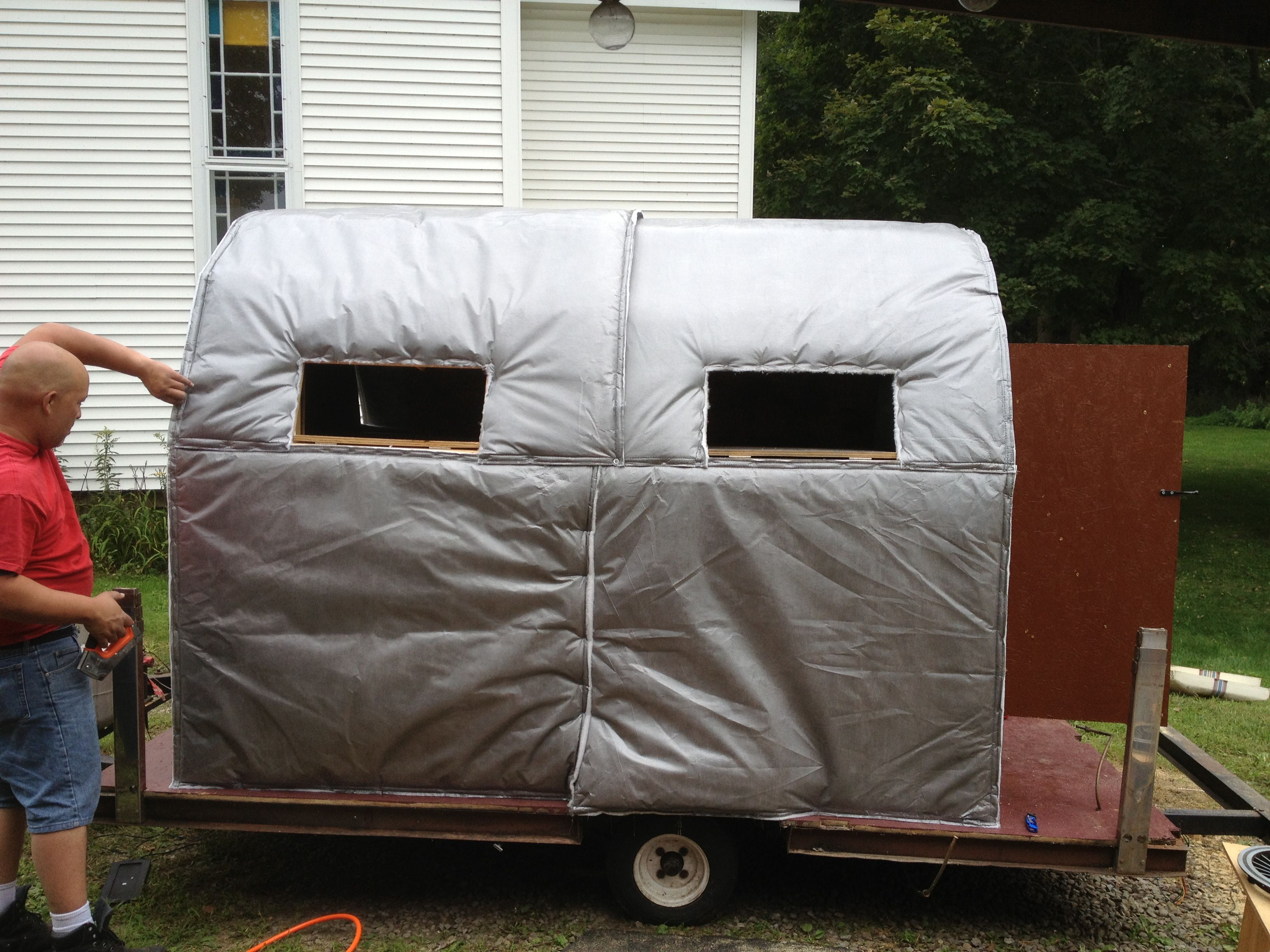 Insulated Hay Bale Blind For Deer Hunting Hay Bale