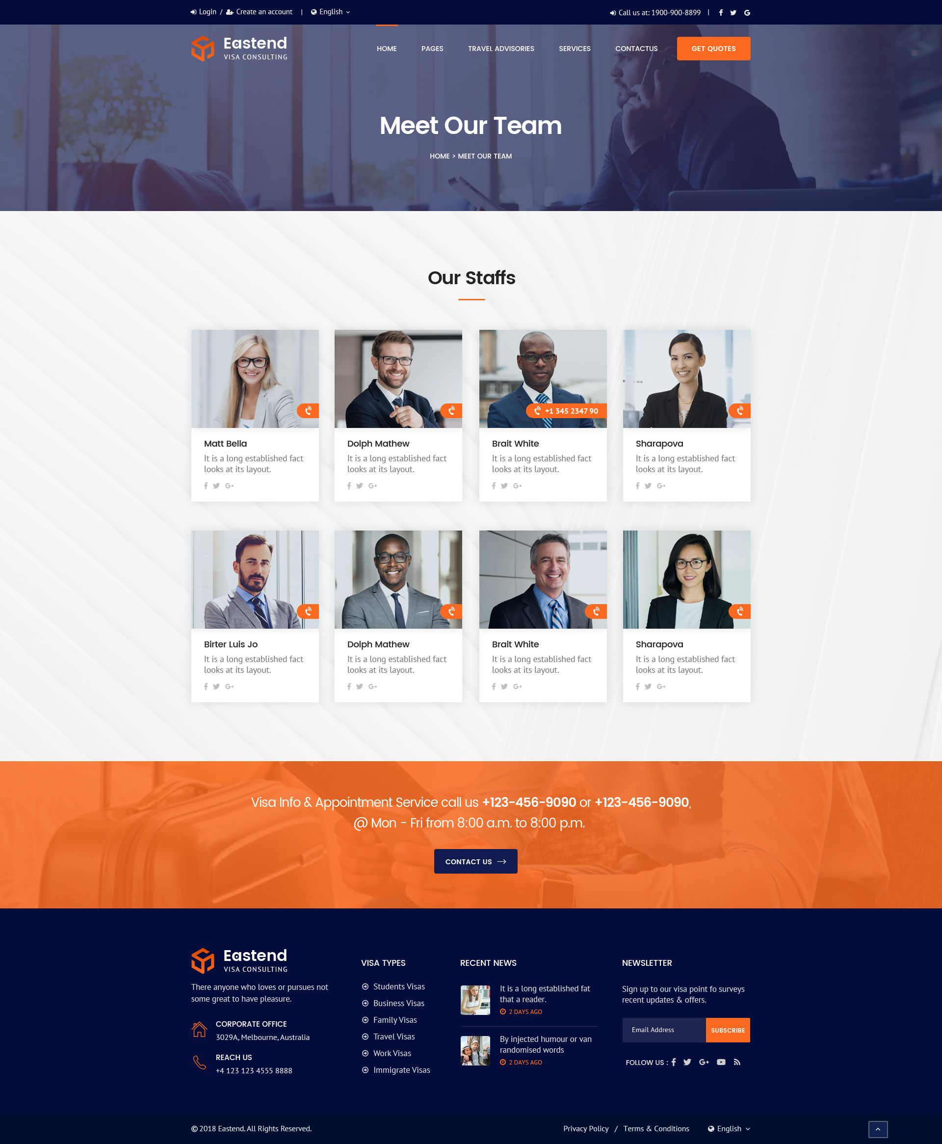 Eastend Visa Immigration Consulting Psd Template Web Design Websites Psd Templates Website Template Design