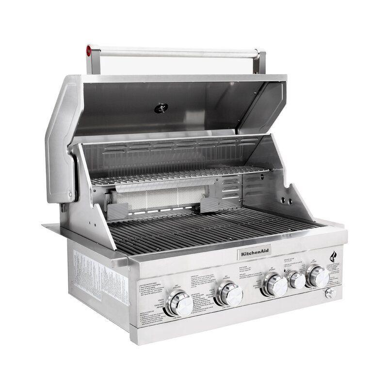 Kitchenaid 4burner builtin propane gas grill propane