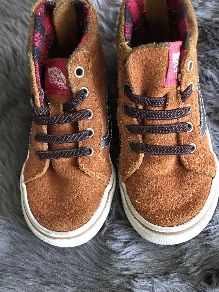 1d5e830dc1 Toddler Vans Off the Wall Sk8-Hi Zip Suede Hi Top Shoes Size 4.5  Glazed  Ginger