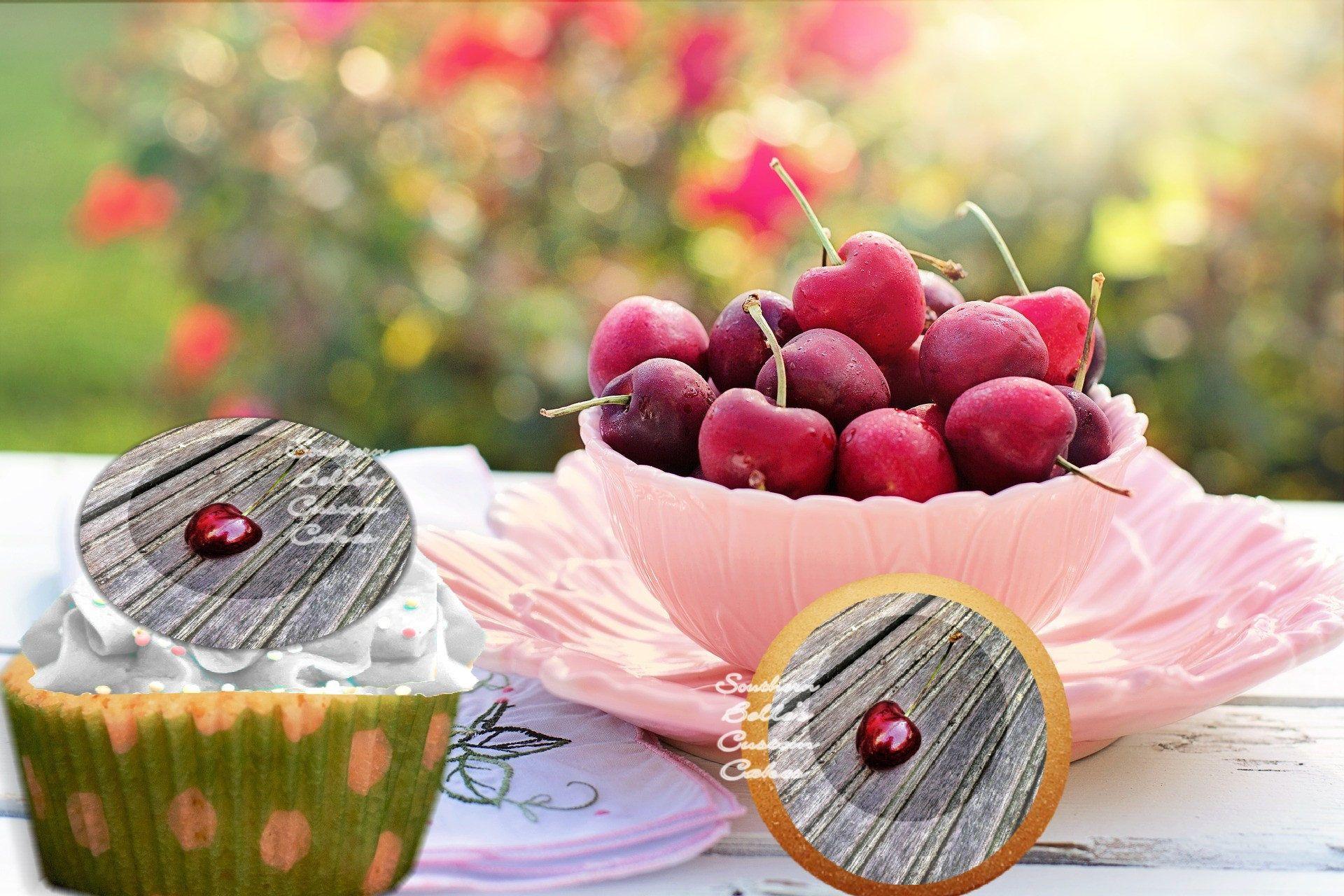 Edible barn board cherry cookietopperedible cherry cake