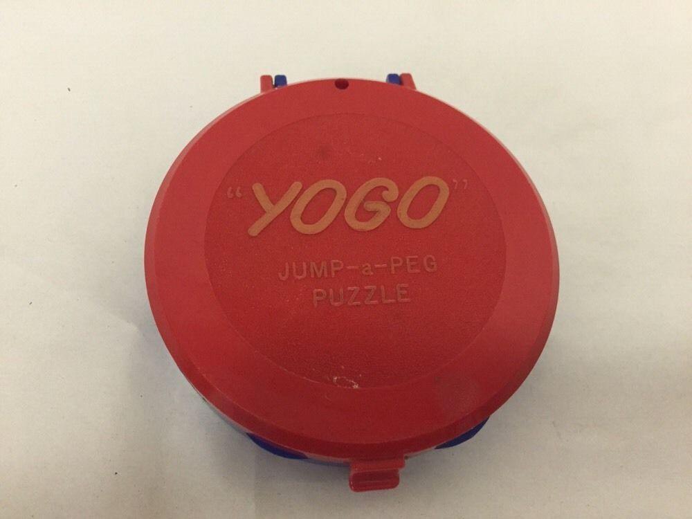 1950's Vintage YOGO Jump-A-Peg Puzzle Checkers Travel Game Pegs #Yogo