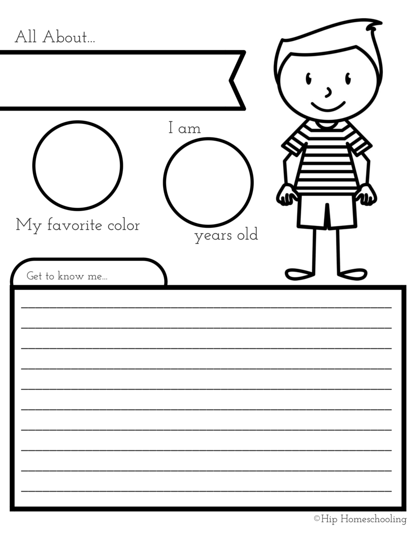 All About Me Worksheet: A Printable Book for Elementary Kids ...