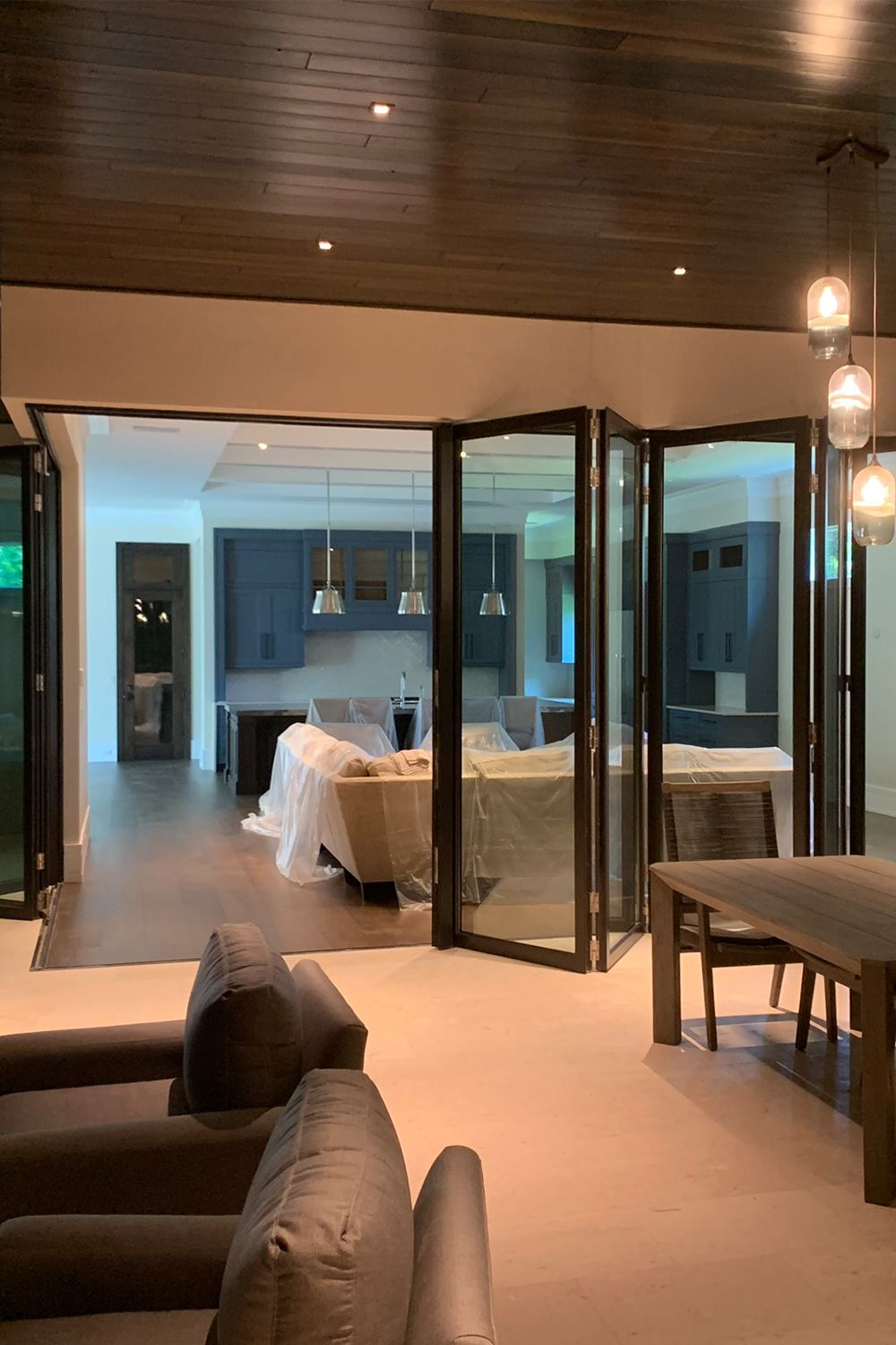 A Set Of Internal Bifolds Adding The Finishing Touch To This Usa Home Bifold Doors Windows 20 Home