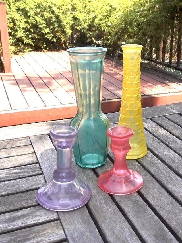 Faux Sea Glass Effect on Glass Decor Tutorial   Editors\' Picks   Sea ...