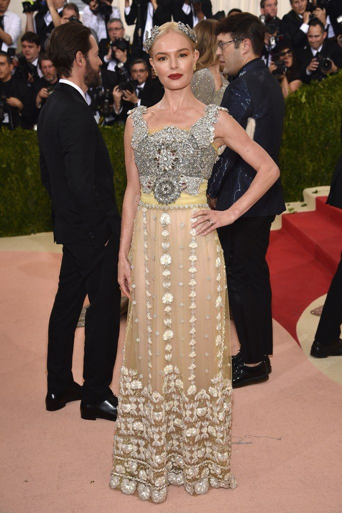 84ec2fe93ee6 Kate Bosworth on the red carpet at the 2016 Met Gala in New York City